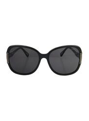 Lanvin Full Rim Butterfly Sunglasses for Women, Grey Lens, SLN508S-60-Z42, 60/17/130