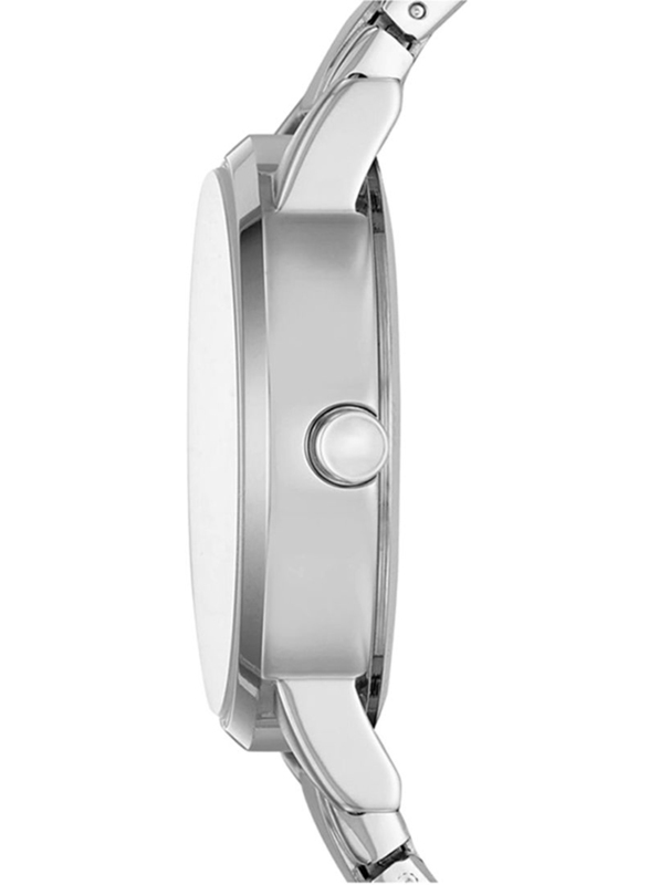 DKNY Soho Analog Watch for Women with Stainless Steel Band, NY2681, Silver-White