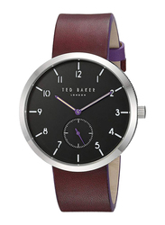 Ted Baker Josh Analog Watch for Men with Leather Band, Water Resistant, T TBKTE50011001, Brown-Black
