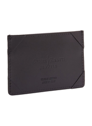 Cesare Paciotti Leather Credit Card Holder for Men, Black