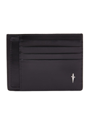 Cesare Paciotti Calf Skin Leather Credit Card Holder for Men, Black