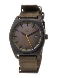 Adidas Analog Watch for Men with Fabric Band, Water Resistant, Z09-3044-00, Brown