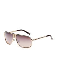 Maxima Full Rim Square Sunglasses for Men, Brown Lens, MX0001-C4, 62/13