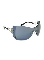 Gf Ferre Rimless Oval Sunglasses for Women, Dark Grey Lens, GF975-03, 55/18/115