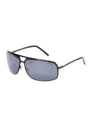 Oxygen Full Rim Rectangular Sunglasses for Men, Grey Lens, OX9016-C15, 68/12/125