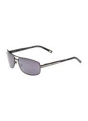 Maxima Polarized Full Rim Rectangular Sunglasses for Men, Gradient Black Lens, MX0010-C15, 63/15/125