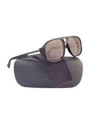 Lanvin Full Rim Rectangular Sunglasses for Unisex, Grey Lens, SLN502C-59-700P, 59/16/140