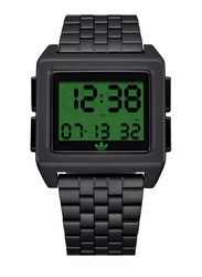 Adidas Archive M1 Digital Watch for Men with Stainless Steel Band, Water Resistant, Z01-3274-00, Grey-Green