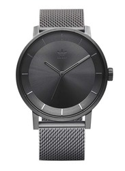 Adidas Analog Unisex Watch with Stainless Steel Band, Water Resistant, Z04-632-00, Grey