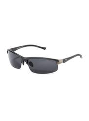 Oxygen Half Rim Sport Sunglasses for Men, Grey Lens, OX8994-C4, 67/16/125