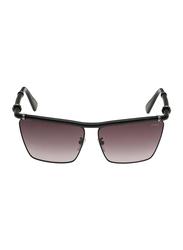Lanvin Full Rim Rectangular Sunglasses for Women, Grey Lens, SLN005S-62-531, 62/13/135