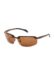 Oxygen Half Rim Sport Sunglasses for Men, Brown Lens, OX8991-C2, 68/13/127