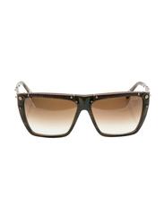 Lanvin Polarized Full Rim Rectangular Sunglasses for Unisex, Gradient Brown Lens, SLN501-59-G62, 59/14/135