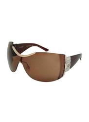 Gf Ferre Rimless Oval Sunglasses for Women, Brown Lens, GF970-02, 18/115