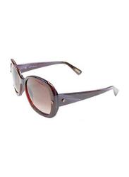 Lanvin Full Rim Butterfly Sunglasses for Women, Gradient Burgundy Lens, SLN500-55-J48, 55/18/140