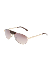 Maxima Full Rim Aviator Sunglasses for Men, Brown Lens, MX0013-C11, 58/16