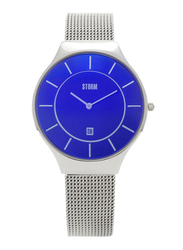 Storm Analog Watch for Women with Stainless Steel Band, Water Resistant, ST-47318/LB, Silver-Blue