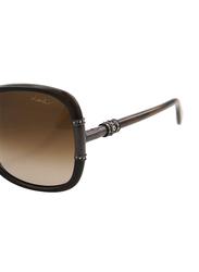 Lanvin Full Rim Butterfly Sunglasses for Women, Gradient Brown Lens, SLN508S-60-6AD, 60/17/130