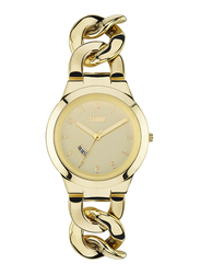 Storm Analog Watch for Women with Stainless Steel Band, Water Resistant, ST-47215/GD, Gold