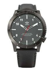 Adidas Cypher LX1 Analog Watch for Men with Leather Band, Water Resistant, Z06-2915-00, Black