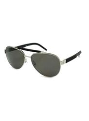 Gf Ferre Full Rim Aviator Sunglasses for Women, Grey Lens, GF982-01, 58/14/135