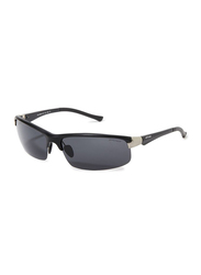 Oxygen Half Rim Sport Sunglasses for Men, Grey Lens, OX8994-C1, 67/16/125