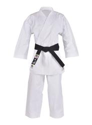 Adidas 140cm Kigai European Cut Karate Uniform without Belt, K888E, White