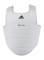 Adidas Small WKF Body Protector, White/Black Logo