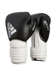 Adidas 16-oz Hybrid 300 Boxing Gloves, Black/White