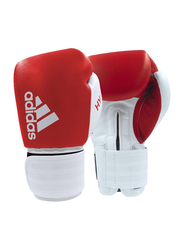 Adidas 14-oz Hybrid 200 Boxing Gloves, Red/White
