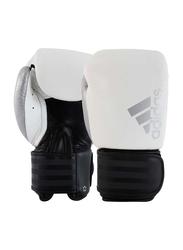 Adidas 16-oz Hybrid 200 Boxing Gloves, White/Black/Silver