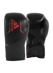 Adidas 12-oz Speed 200 Boxing Gloves, Black/Red