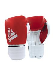 Adidas 10-oz Hybrid 200 Boxing Gloves, Red/White