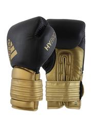 Adidas 10-oz Hybrid 300 Boxing Gloves, Black/Gold