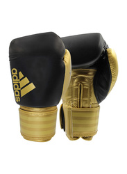 Adidas 8-oz Hybrid 200 Boxing Gloves, Black/Gold
