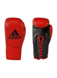 Adidas 10-oz Kombat Boxing Gloves, Red/Black