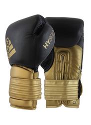 Adidas 14-oz Hybrid 300 Boxing Gloves, Black/Gold