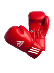 Adidas 10-oz Aiba Boxing Gloves, Red