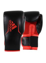 Adidas 10-oz Speed 75 Boxing Gloves, Black/Solar Red