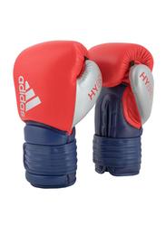 Adidas 12-oz Hybrid 300 Boxing Gloves, Red/Ink