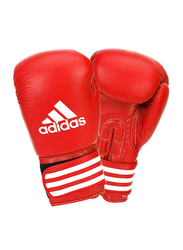Adidas 10-oz Ultima Competition Boxing Gloves, Red/White