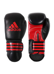 Adidas 16-oz Kpower300 Kick Boxing Gloves, Black/Red