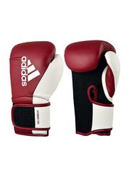 Adidas 10-oz Hybrid 150 Boxing Gloves for Women, Burgundy/White