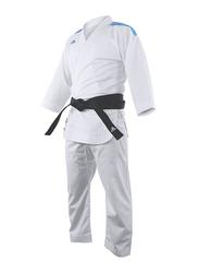 Adidas 180cm Stripes Karate Uniform without Belt, K0, White/Blue