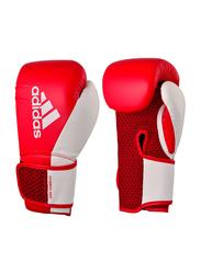 Adidas 8-oz Hybrid 150 Boxing Gloves, Red/White