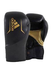 Adidas 14-oz Speed 300 Boxing Gloves, Black/Gold