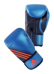 Adidas 12-oz Speed 300 Boxing Gloves, Blue/Collegiate Navy Blue