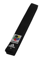 Adidas 280cm WKF Elite Karate Belt, ADIB242K, Black