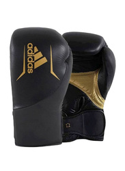 Adidas 10-oz Speed 300 Boxing Gloves, Black/Gold