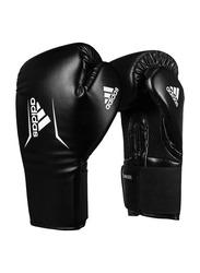 Adidas 10-oz Speed 75 Boxing Gloves, Black/White